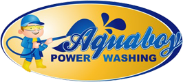 Medford Power Washing Aquaboy Sticky Logo